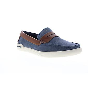 Unlisted by Kenneth Cole Un Anchor Mens Blue Canvas Casual Slip On Loafers Shoes