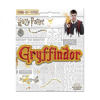 Harry Potter Gryffindor Text Iron On Patch
