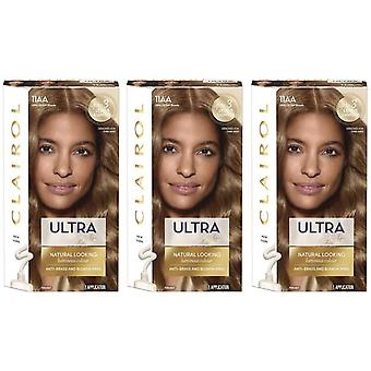 3 x Clairol Nice 'n Easy Ultra Lift Permanent Hair Colour - 11AA Ash Blonde