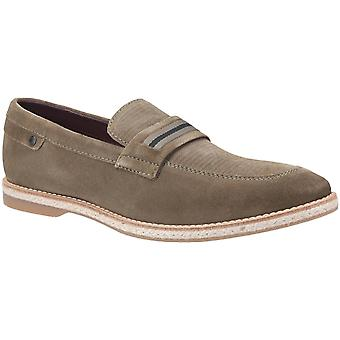 Base london mens kinsey deslizamento de camurça em Loafer Khaki