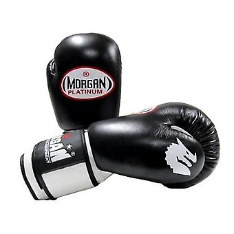 Morgan V2 Platinum Leather Sparring Gloves Black