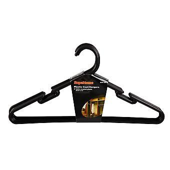 SupaHome Plastic Coat Hangers (Pack Of 8)