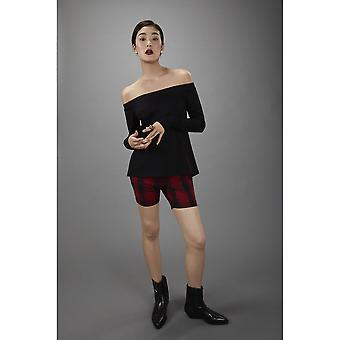 Lindsay Nicholas NY Red Plaid Emery Park Pantalón Skinny M.I.N.Y. Pant™