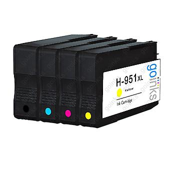 1 Compatible Set of 4 HP 950 & 951 (HP 950XL & 951XL) Printer Ink Cartridges