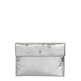 Alexander Mcqueen 6320331yaei1402 Damen's Silber Leder Clutch