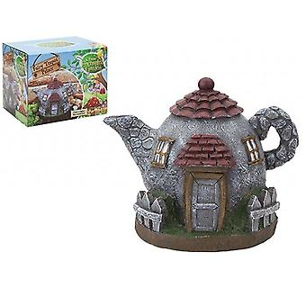 The Faries Enchanted Garden Fairy Teapot Palace 17 X 11 X 13.5CM