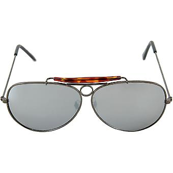 Glasses Aviator Gunmetal Mirro - 15304