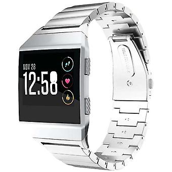Watch bracelet made by strapsco for fitbit ionic stainless steel