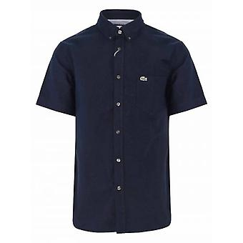 Lacoste العادية تناسب قميص البحرية قصيرة الأكمام