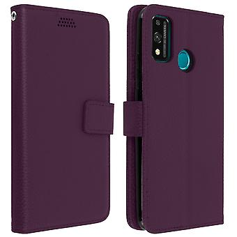 Honor 9X Lite Folio Case with Video Support -purple