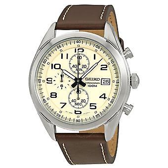 Seiko Quartz Watch SSB273P1 - Lederen Heren Quartz Chronograph