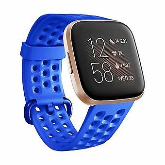 """Vervangende armbandarmband siliconen band voor Fitbit Versa 2/Versa Lite/Versa[Large Fits Wrist 7.1"""" - 8.7"""",Blauw]"""