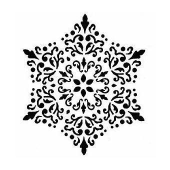 IndigoBlu Lace Mandala 6x6 Inch Stencil