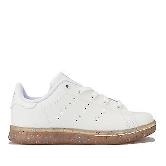 Girl's adidas Originals Kinder Stan Smith Trainer in weiß