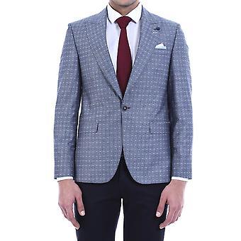 Patterned linen blazer | wessi