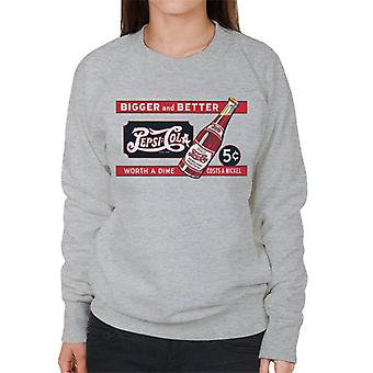 Pepsi Cola Retro Worth A Dime Costs A Nickel Women's Sweatshirt