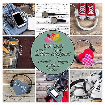 Dixi Craft Headphones 9x9cm Toppers