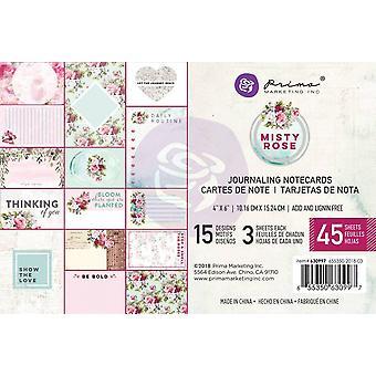 Prima Markkinointi Misty Rose 4x6 Tuuman Päiväkirjakortit