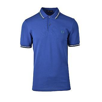Fred Perry Twin getipt Polo Shirt Nautische Blauw