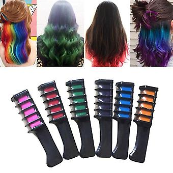 Temporary Hair Chalk Color And Comb Dye Kits - Disposable Cosplay Party Hairs Dyeing Tool Crayons For Home Salon