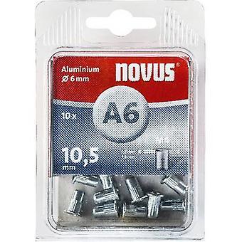 Novus 045-0041 Blind rivet nut (Ø x L) 6 mm x 6 mm M4 Aluminium Aluminium 10 pc(s)
