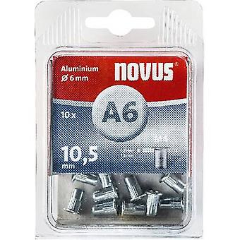 Novus 045-0041 Blind klinknagel moer (Ø x L) 6 x 6 mm M4 Aluminium Aluminium 10 PC('s)