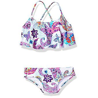 Kanu Surf Little Girls' Alania Flounce Bikini Beach Sport 2 Piece Swimsuit, M...