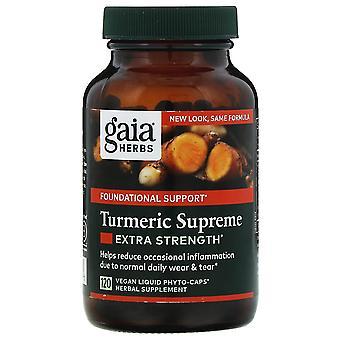 Gaia Kruiden, Kurkuma Supreme, Extra Sterkte, 120 Vegan Liquid Phyto-Caps