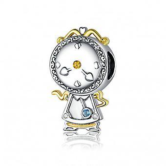 Sterling Sølv Charm Magic Clock - 6716