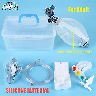 Silicone Artificial Resuscitator Emergency Bag - Manual Resuscitator With Mask Veterinary Tool