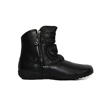 Josef Seibel Naly 24 Black Leather Womens Zip Up Ankle Boots