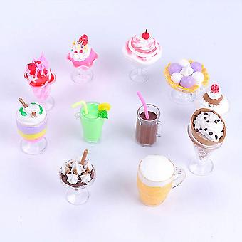 Mini Transparent Drink Cups Dish, Assiette - Diy Tableware Miniature
