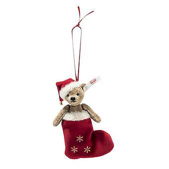 Steiff Ornement d'ours en peluche de Noël 12 cm