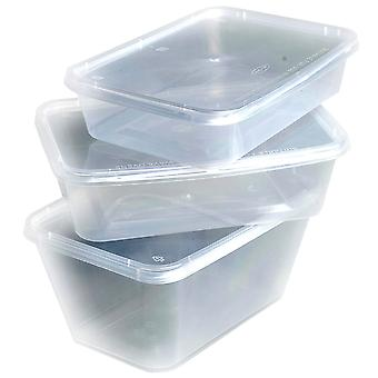 Weller Large Plastic Takeaway Containers & Lids