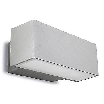 2 Light Outdoor Wall Light Grey IP65