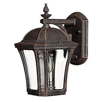 1 Light Small Outdoor Wall Lantern Mocha IP44, E27