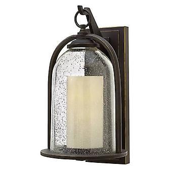 Elstead Quincy - 1 Licht Outdoor Medium Wand Laterne Licht Öl geriebene Bronze IP44, E27
