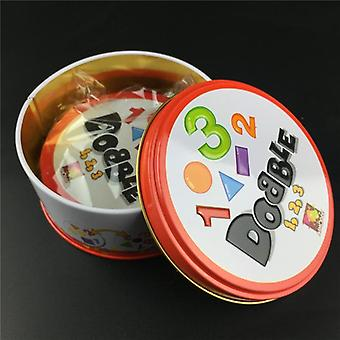 Halloween Dobbles Spot It Hip Hop English Version On Road Board Game High-quality Dobble Metal Tin Box