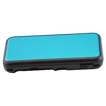 Hybrid case for nintendo new 2ds xl console aluminium metal protective cover - blue | zedlabz