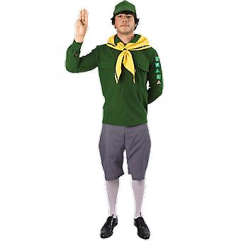 Orion kostuums mens groene en gele jongen Scout uniform fancy dress kostuum