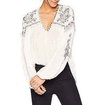 Free People | Rock It Tonight Embroidered Peasant Blouse