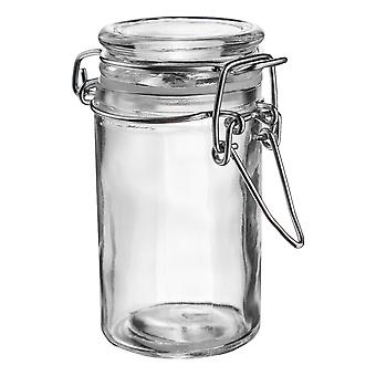 Argon Tableware Glass Spice Jar with Airtight Clip Lid - 70ml - Clear Seal