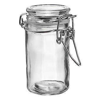 Argon bordservice Glas Spice Jar med lufttæt klip låg - 70ml - Clear Seal