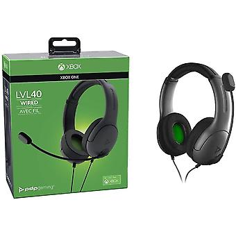 PDP LVL40 Wired Stereo Gaming Headset Xbox One - Black