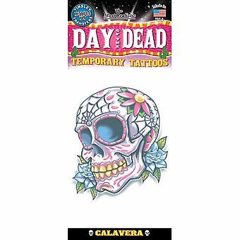 Tinsley Transfers Temporary Tattoo - Day Of The Dead (Calaveras De Azucar)