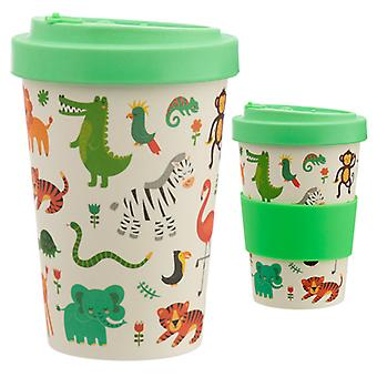Bamboo Composite Zooniverse Vis Top Travel Mug X 1 Pack