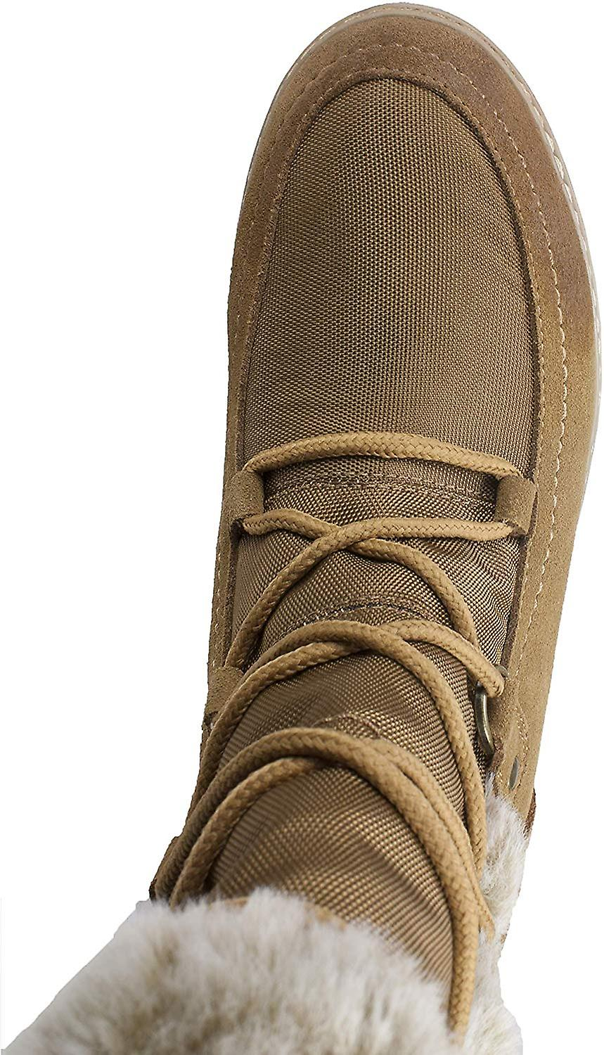 White Mountain Women's Shoes TANSLEY Suede Almond Toe Ankle Cold Weather Boots