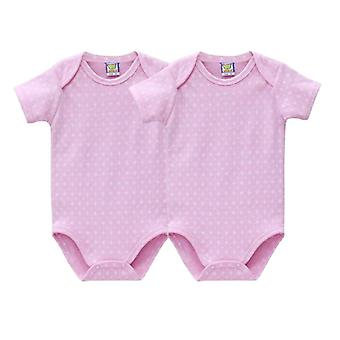 Newborn Baby Clothing Boys And Girls Footies Short Sleeve Climbing  One Piece Overalls