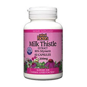 Luonnolliset tekijät Maidon thistle, 250 mg, 60 Korkkia