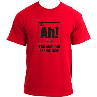 Ah The Element Of Surprise - Funny Science Chemistry Nerd Joke Geek T-Shirt